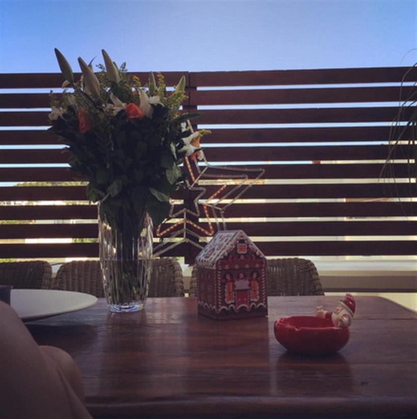 Φαίη Σκορδά: Μας έδειξε το ομορφότερο μέρος του σπιτιού της!