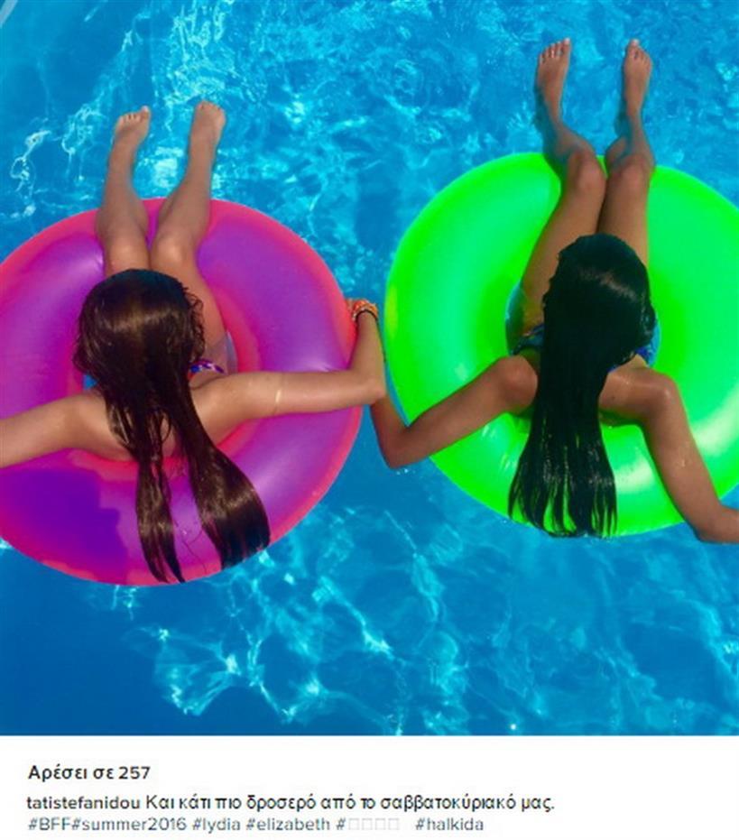 Στεφανίδου: Φωτογράφισε την κόρη της και την φίλη της στις διακοπές τους!